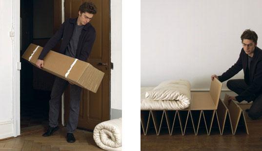 giường giấy carton