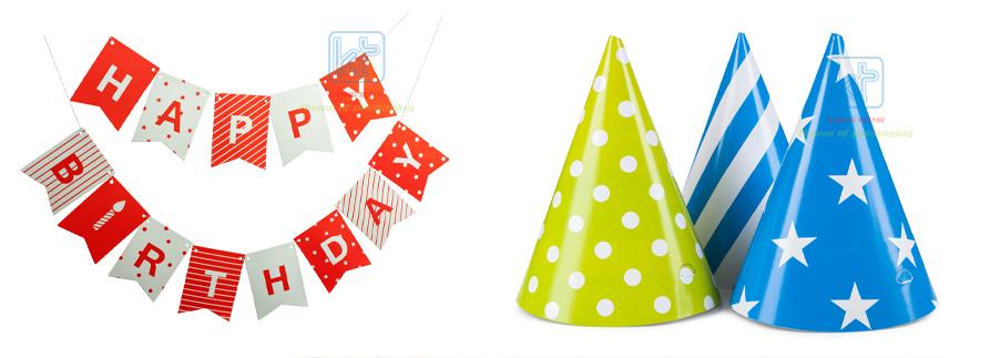 phụ kiện trang trí tiệc bằng giấy Khang Thành